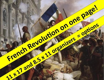 French Revolution Graphic Organizer:  both 11 x 17 and 8.5