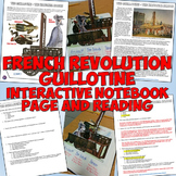 French Revolution Guillotine Interactive Notebook Page and