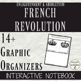 French Revolution 14+ Interactive Notebook Graphic Organizers