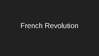 French Revolution Intro