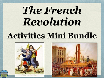 French Revolution Activities Mini Bundle