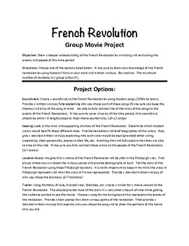 French Revolution Movie Project
