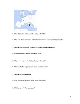 French Revolution, Napoleon, Congress of Vienna test study guide