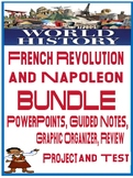 World History French Revolution & Napoleon Unit Bundle PowerPoint Guided Notes