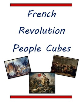 French Revolution People Cubes
