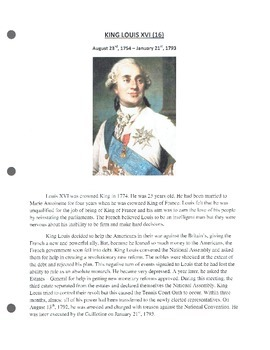 French Revolution Picture Book Project