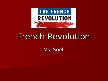 French Revolution Power Point