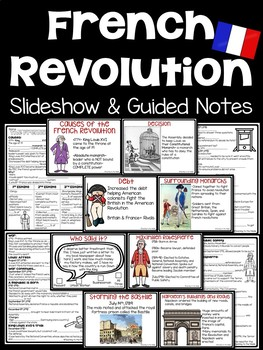 French Revolution Power Point- DBQ, Pictures, Video Links, Guided Notes