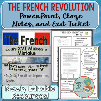French Revolution PowerPoint and Cloze Notes