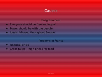 French Revolution Powerpoint including causes (1788-1799)