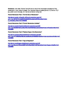 French Revolution Presentations Parts 1-4