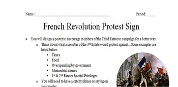 French Revolution Protest Poster Activity
