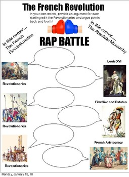 French Revolution Rap Battle: General People Vs. Absolute Monarchy