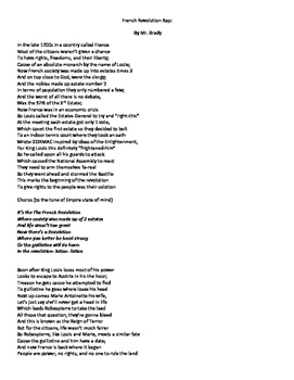 """French Revolution Rap to tune of """"Run This Town"""" by Jay Z"""