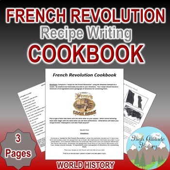 French Revolution Recipe and Moodle Cookbook (World History)