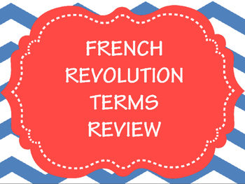 French Revolution Review Terms