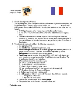 French Revolution Scrapbook Project