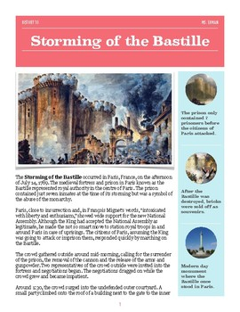 French Revolution - Storming of the Bastille