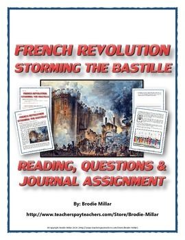 French Revolution - Storming the Bastille (Reading, Questi