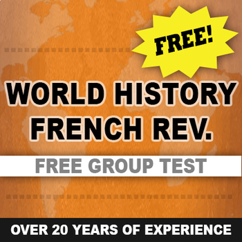 French Revolution Test written and group World History Free