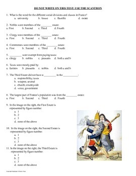 French Revolution Test 2 Versions Included