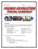 French Revolution Timeline Assignment (Student Handout, Key, Rubric, etc.)