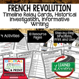 French Revolution Timeline, Investigation, & Writing (Paper and Google )