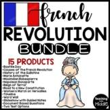 French Revolution Bundle, Reading Comprehension, Test, Project, DBQ, No-Prep