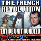 French Revolution Unit - PPTs, Worksheets, Plans, Test + D