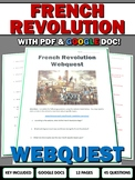 French Revolution - Webquest with Key (Google Docs Included)