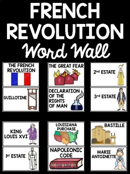 French Revolution Word Wall