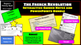 French Revolution World History Bundle (PowerPoints, Vocab, Guided Notes)