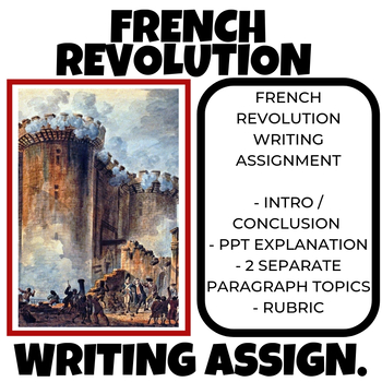 French Revolution Writing / Vocab Assessment