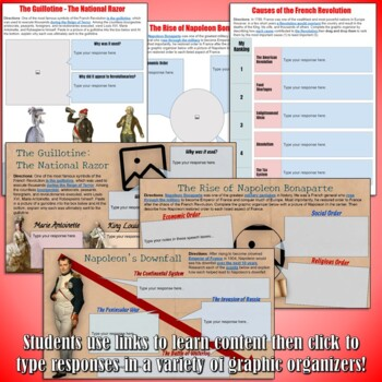French Revolution and Latin America Google Drive Interactive Notebook