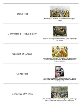 French Revolution and Napoleon Flashcards