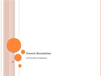 French Revolution and Napoleon PowerPoint