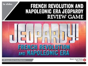 French Revolution and Napoleonic Era Jeopardy Review