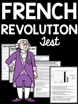French Revolution test- matching, multiple-choice, DBQ, includes study guide