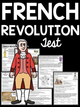 French Revolution test- matching, multiple-choice, DBQ