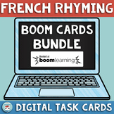French Rhyming BOOM Cards for French Distance Learning Les
