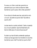 French Role Play- Les animaux