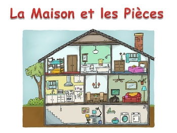 French rooms in the house powerpoint activities by world language classroom - Nombre de pieces maison impots ...
