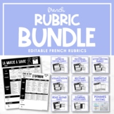 Editable French Rubric Bundle - Paquet des rubriques