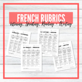 French Rubrics - All 4 Strands - Listening, Speaking, Read