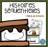 French S'more Sequencing activity/ Histoires séquentielles (Faire un s'more)