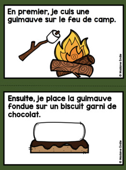 French S'more Sequencing activity/ Histoires séquentielles (Faire un s'more)
