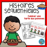 French Apple Pie Sequencing activity/ Histoires séquentiel