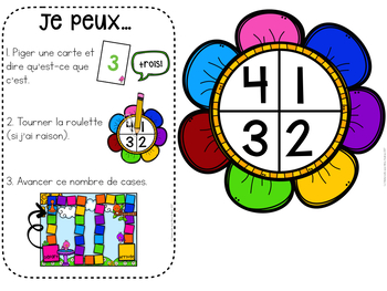 French SPRING Math Centres - jeu de l'oie (Centres de maths en français)