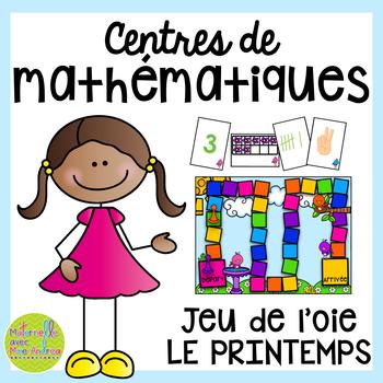 French SPRING Math Centres - jeu de l'oie (Centres de math