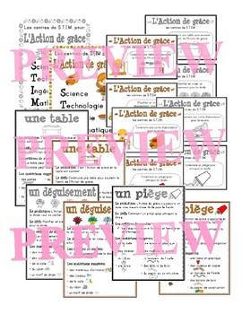 French STEM - Thanksgiving (STIM pour l'Action de grâce)